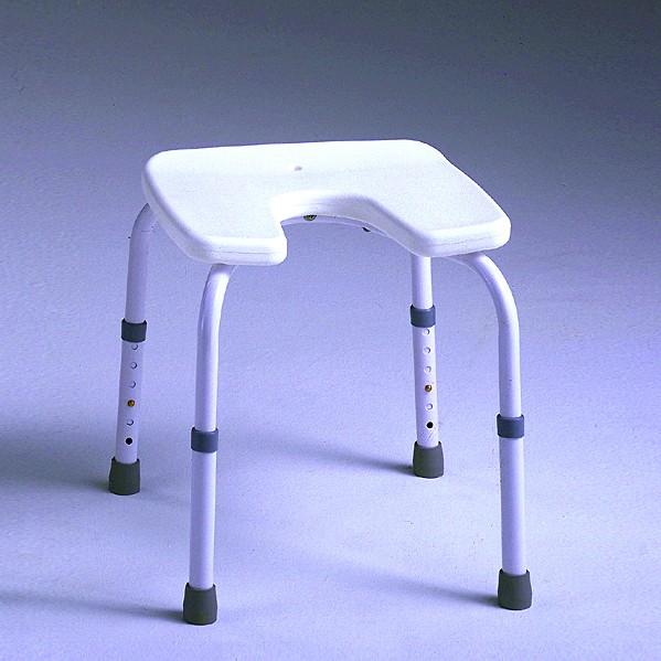 Taburete Aluminio Con Asiento En U