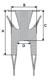 Medidas arnés para grúa universal con reposacabezas