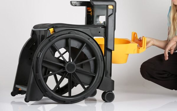 Silla de ducha plegable Wheelable