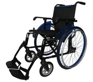 Silla de ruedas aluminio Line azul