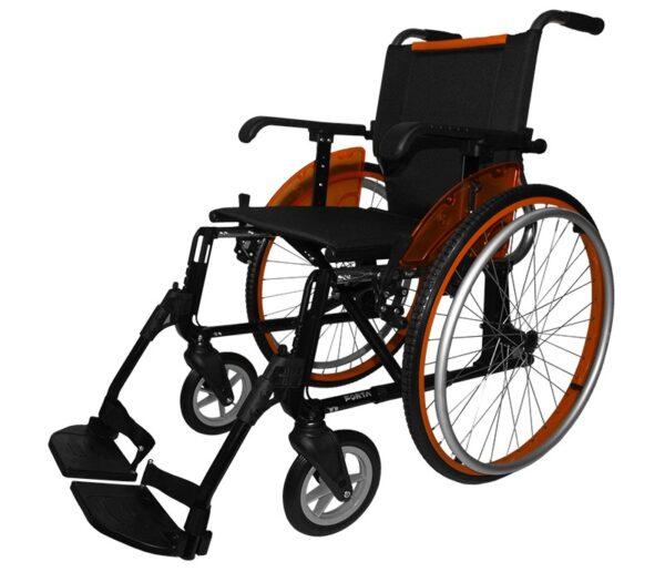 Silla de ruedas aluminio Line naranja
