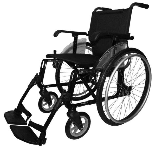 Silla de ruedas aluminio Line negra