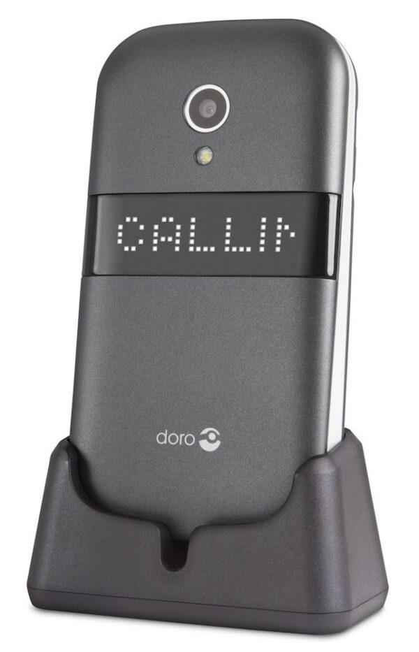 Teléfono móvil plegable con pantalla externa