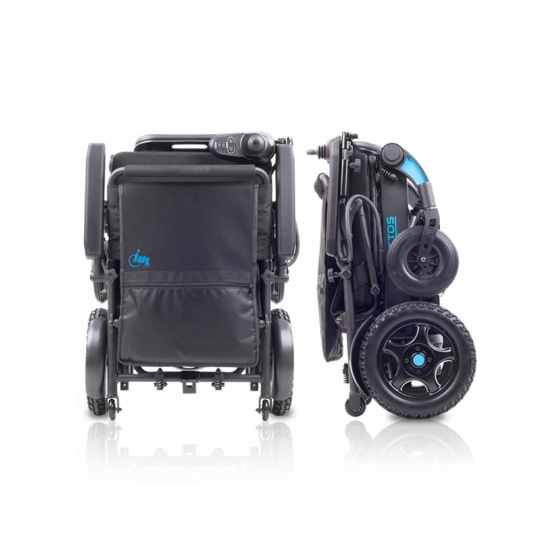 silla ruedas electrica plegada