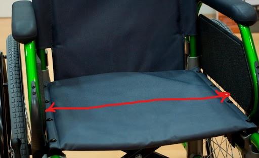 Ancho asiento silla de ruedas
